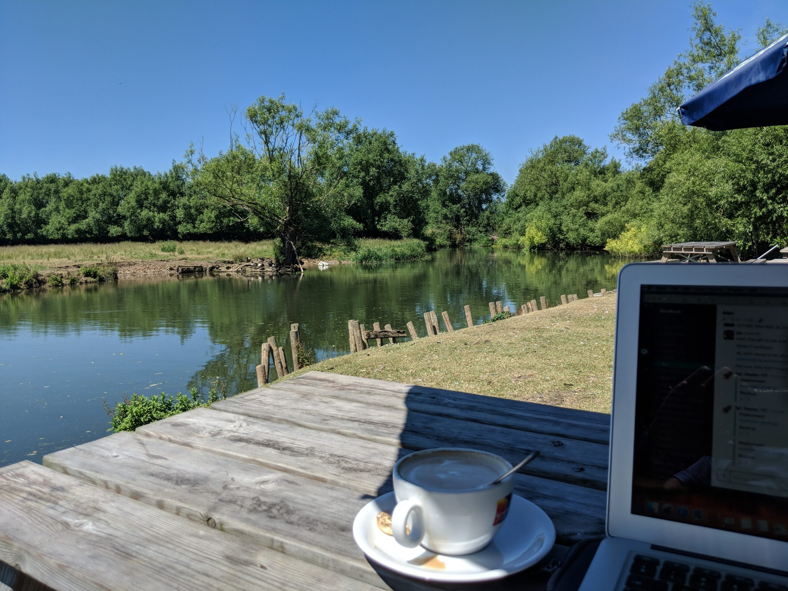 Working by the river