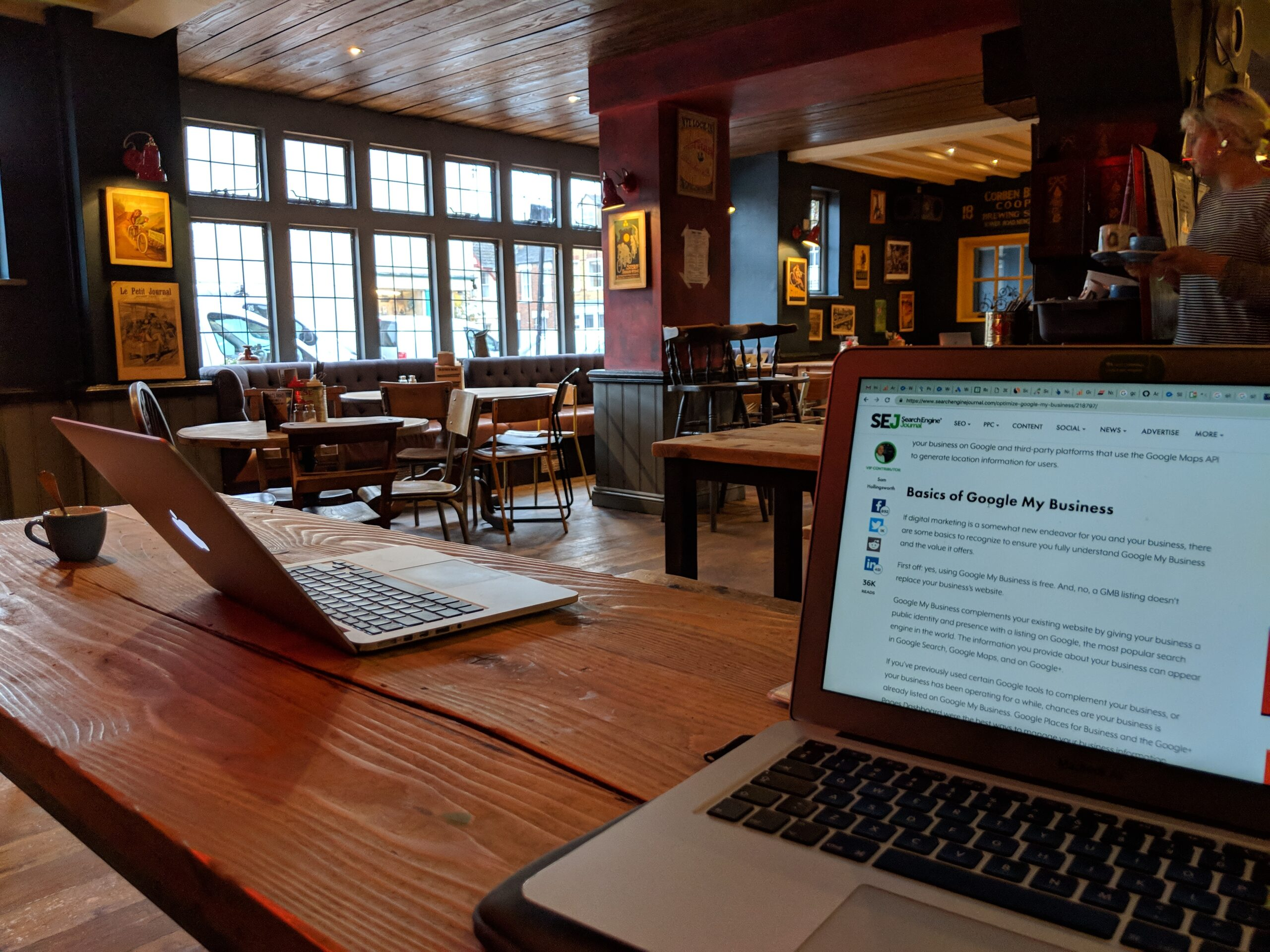 Working from the pub